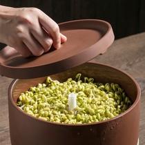 Медвежонок умный ростки машина домочадца автоматический небольшой рост желто-зеленых ростков артефакт глиняный фиолетовый песок ростки фасоли горшок