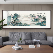 Xianshan Fudi Traditional Chinese Painting Landscape Painting Fengshui Depends on Landscape Living Room Decoration Painting Office Hanging Paintings, Gathering Treasure Pots and Recruitment Paintings