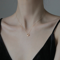 S925 sterling silver ring necklace girl simple light luxury minority design sense temperament collarbone chain new summer 2021