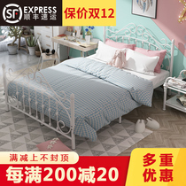 Nordic modern minimalist wrought iron princess bed 1 2 single 1 5 adult 1 8 m double fashion ins iron bed