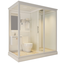 Integrated shower room Integrated bathroom Household hotel bath room Dry and wet separation squat pit bathroom toilet