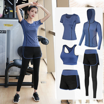 Sports suit Womens spring and summer gym yoga suit beginners professional morning running suit Summer Jia net red quick-drying