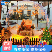 Christmas inflatable crystal ball transparent snowflake ball air mold inflatable bubble House shopping mall hotel activity advertisement Decoration