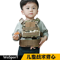 Wosport Special Forces 3 4 5 6 7 years old tactical vest multi-functional children camouflage body armor