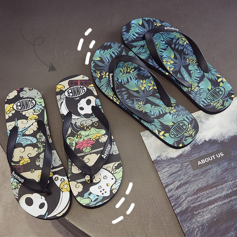 Summer flip flop personality outdoor beach trend Korean antiskid new clip foot sandals sandals sandals for men