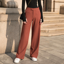 Wide leg pants womens high waist down suit pants straight loose casual Mopar pants classic 2019 new autumn and winter pants