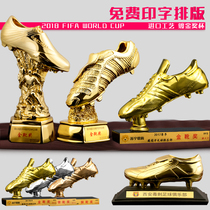 World Cup custom Golden Boot resin trophy gilded soccer Mr. Shooter bonus shoe Match trophy fans