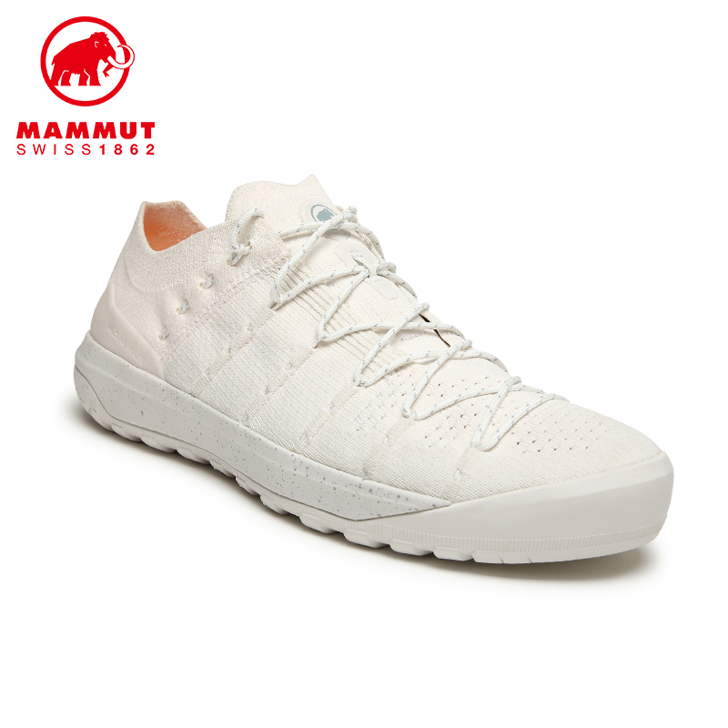 MAMMUT mammoth Hueco mens elastic fabric surface retro Italian low-help small white shoes commuter shoes