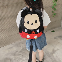 Childrens school bag cartoon cute Mickey Minnie campus backpack new boys and girls baby Anti lost small backpack