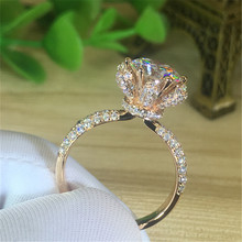 18K White Gold mosang stone ring women flower rose gold eight heart eight arrow six claw ring 1 carat women's diamond ring