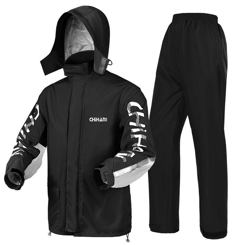 Pantalon de pluie imperméable ensemble split à emporter poncho moto équitation imperméable à l'eau pour hommes et femmes double couche épaisse vêtements imperméables à l'épreuve des pluies