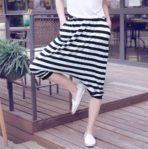 Summer Korean edition summer Thin Modern hip-hop loose hip pants casual big crotch pants crotch pants hanging crotch pants female