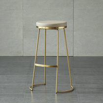 Nordic wrought iron bar stools bar chairs Golden high stool simple creative coffee chair front desk chair home stool dining chair