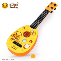 B.duck Small yellow duck children simulation small guitar can play Ukreli early scholars early teach music toys