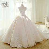 Sugar-free Princess lace luxury European and American wedding dress