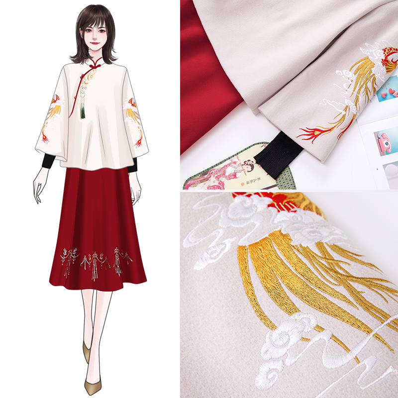 Han clothing women improved Chinese Tang cotton wool autumn and winter Republic of China New Years wear womens Chinese wind cheongsam jacket suit