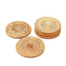 Shang Knitting Rattan cup pad cup bracket Kung Fu tea Accessories tea Ceremony insulation round tea teapot Pad Special Price