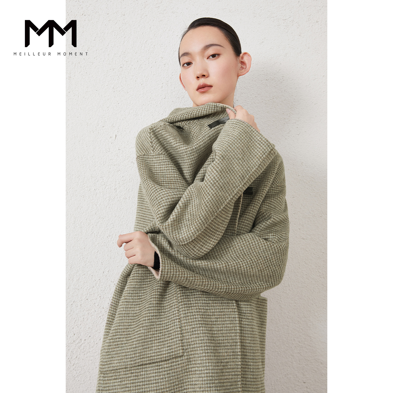Shopping malls the same MM McIlroy 2020 winter new plaid double-sided coat wool coat women 5BA170461