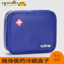 Insulin cold box, portable insulin cold pack, interferon thermal insulation bag, and ice bag.