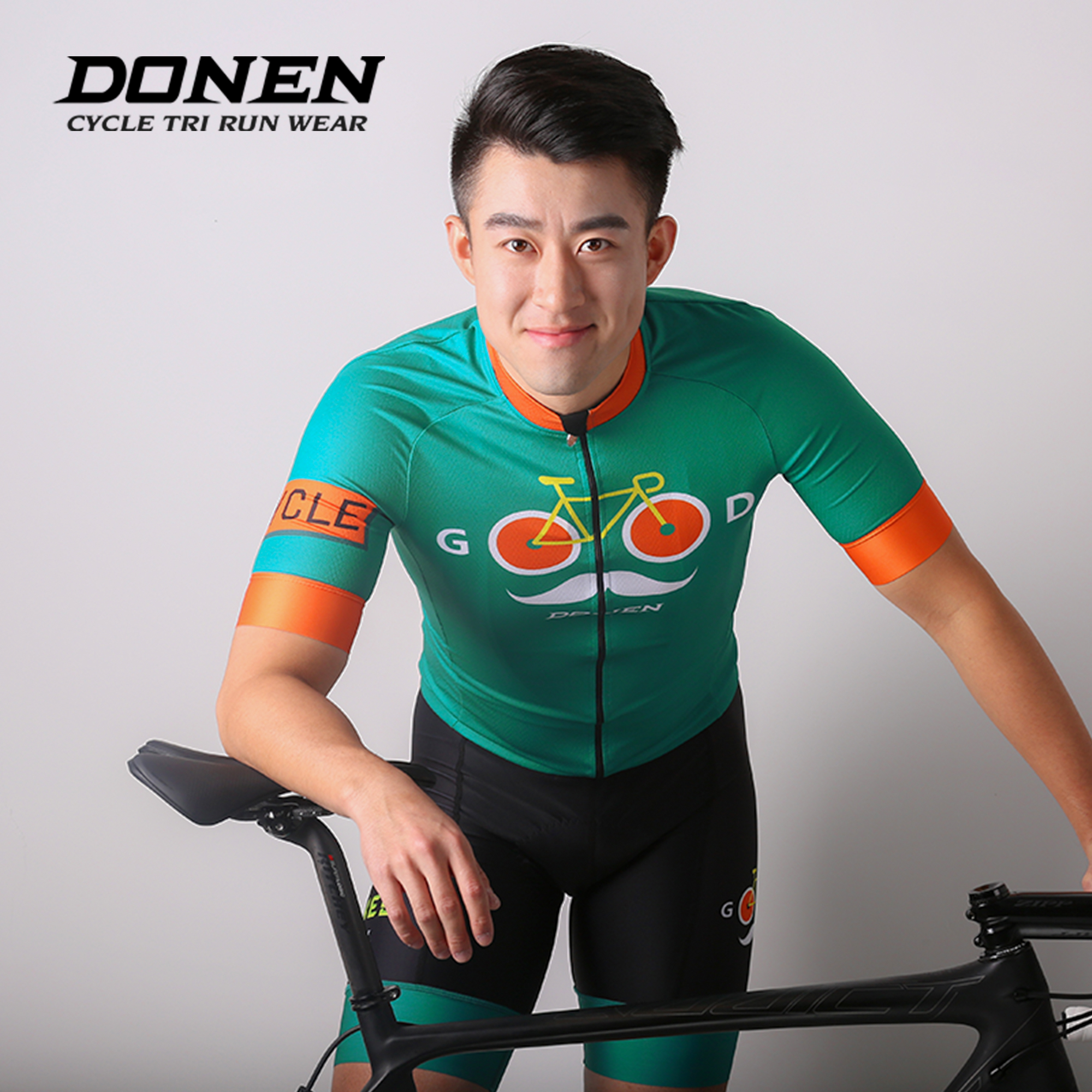 Darn Jersey suit short sleeve spring and summer breathable bicycle mountain bike riding strap shorts equipment custom