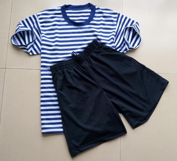 Navy physical training suit sea body suit sea soul shirt suit sea training uniform T-shirt sports short-sleeved shorts