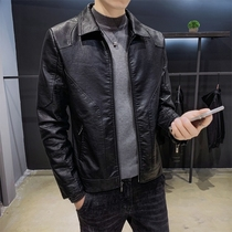 2019 autumn and Winter new leather leather mens jacket Korean casual black youth fashion handsome jacket