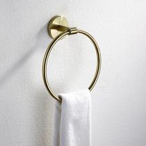 Export German brass brushed gold stainless steel wipe hand towel ring round towel hanging bathroom hardware Pendant