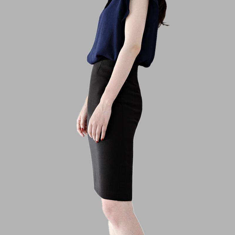 Hip skirt Mid-length womens spring and autumn knee-length stretch work high-waisted suit skirt Split professional step skirt winter