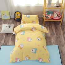 全棉幼儿园被子三件套床上用品100%纯棉六含芯天然棉花褥儿童午睡