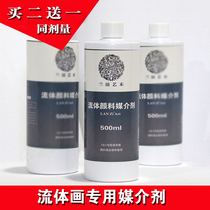 Liquid propylene fluid Painting medium agent pigment cell Silicone oil pouring support flow add diluent Lanz Art
