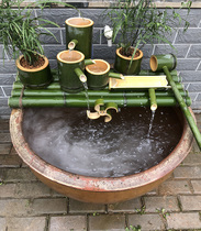 Bamboo water tank stone trough fish pond Decorative Ornaments Bamboo Filter rockery water circulating oxygenation