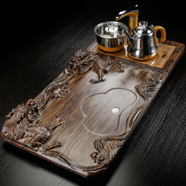 Kung Fu tea set drawer-type drainage tea plate four-in-one fully automatic electric heating stove water storage tea plate tea table tea table tea plate