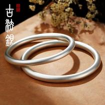 Nine music 999 sterling silver ancient law inheritance bracelet Womens fashion solid bracelet Niche design net red young bracelet