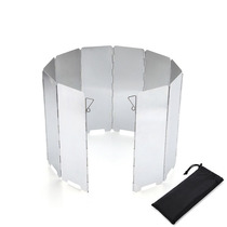 Ultra-light aluminum wind shield 8 pieces 10 pieces 12 pieces outdoor stove head wind shield stack portable picnic equipment