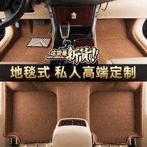 纳米地毯汽车脚垫奔驰E300L 300GLC260GLK300C260LC200L350GLE450
