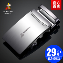 Scarecrow Mens Belt buckle auto buckle young student Pants lead belt card buckle Korean version of new leather lead