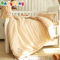 Three-piece childrens nursery quilt cotton napping babies baby bed bedding cotton mattresses with double core yarn