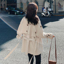 Beige windshield womens middle-length small 150cm early spring 2021 new popular mid-style spring and autumn jacket