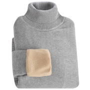 Men's winter turtleneck sweater cashmere sweater and Black Slim knit thickened Korean warm shirt