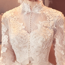 Trailing winter Europe and the United States retro collar was thin court wedding