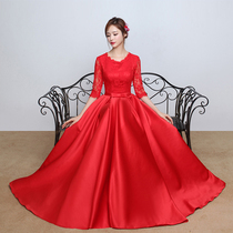 Spring Red China wind fashion show thin toast clothes