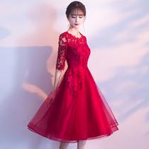 Spring red skinny summer wedding dress