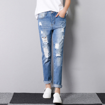 Angel Lee Korean version straight tube self-cultivation students trousers