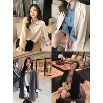 Zhang Beibei ibell2021 early Autumn New lazy wind temperament long sleeve shirt women thin loose simple top