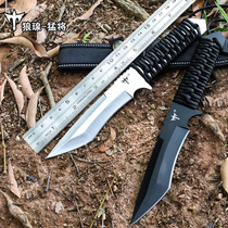 Outdoor straight knife wilderness survival Army Knife high hardness portable knife field survival body tool sharp