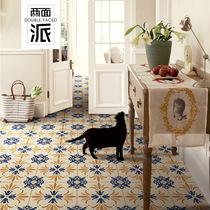 Nordic modern idyllic tiles geometric lines kitchen wall brick bathroom simple floor tiles retro Tiles 300