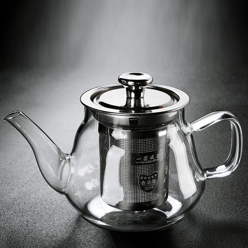 Old Wangge high temperature glass tea set brewing teapot filter kettle teapot home flower tea black tea tea maker A