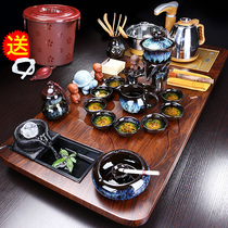 Tea set home living room tea office with high-end guest tea table light luxury tea plate fully automatic one