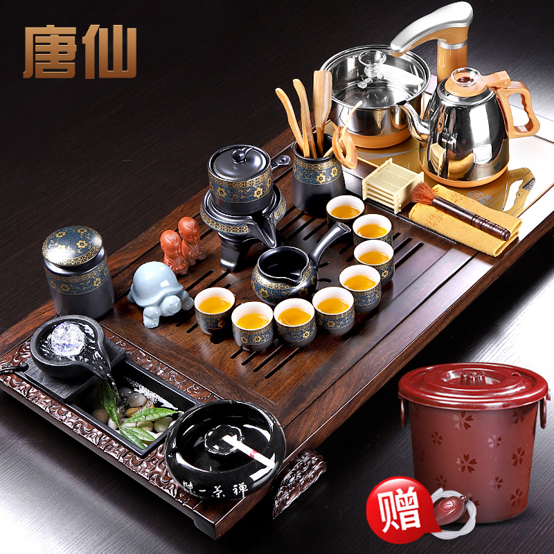 Ebony solid wood tea plate tea set home living room as one of the high-end luxury commercial high-end office guests