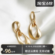 Minority design sense earrings in 2021 new fashion summer earrings INS atmosphere quality high grade earrings exaggerated atmosphere